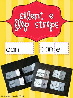 Silent e Flip Strips - students will read CVC words then flip the e over to read CVCe words Silent E, Cvce Words, Common Core Reading, Recording Sheets, Picture Cards, Black Friday Deals, New Words, Literacy, Encouragement