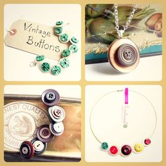 Realicoul Vintage Button jewellery