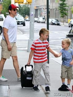 Matt Bomer out and about with his kids and partner in New York City.    Credit: Socialite Life