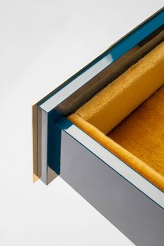 Mohair velvet upholstered interiors on Paolo Rizzo's line of gold furniture