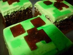 It's hip to be square. | 31 DIY Birthday Party Ideas That Will Blow Your Minecraft