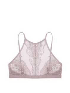 22e7d8ad62 Crochet Lace High-neck Bralette - Body by Victoria - Victoria s Secret Lace  Bra