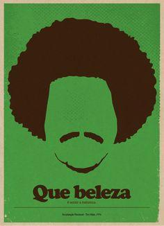 Série de cartazes do Rafael Barletta, de Santa Cruz do Sul, com ilustrações minimalistas de alguns dos artistas mais clássicos da música brasileira.