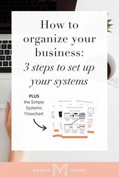 How to organize your business: 3 steps to configure your business systems Megan Minns – Tips For The Best Organizations Starting A Business, Business Planning, Business Tips, Online Business, Business Education, Business School, Cleaning Business, Business Journal, Successful Business