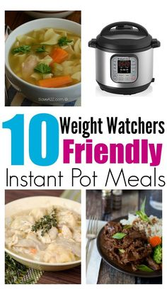 Healthy Recipes 10 Weight Watchers Friendly Instant Pot Recipes - Looking for Weight Watchers Recipes for your Instant Pot or Pressure Cooker? Here's 10 TOP recipes to try! Pressure Cooking Recipes, Slow Cooker Recipes, Crockpot Recipes, Chicken Recipes, Baked Chicken, Cooking Steak, Chicken Soup, Goulash Recipes, Cooking Rice