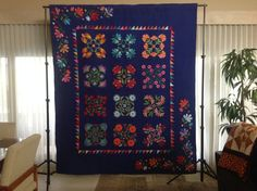 Appliqué: Quilt Guild by the Sea Donation Quilt for 2016.  Appliquéd by Melinda Schwartz, Lee Hasse, Marie Christine Leavitt and Diane Paquin Provost.  Quilted by Susan Freudenthal