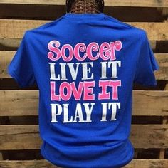 Southern Chics Soccer Live it Love it Play it Girlie Bright T Shirt Available in sizes Youth XS-Youth XL, Adult Soccer Workouts, Soccer Drills, Soccer Tips, Soccer Games, Soccer Players, Soccer Stuff, Basketball Tickets, Uk Basketball, Soccer Coaching