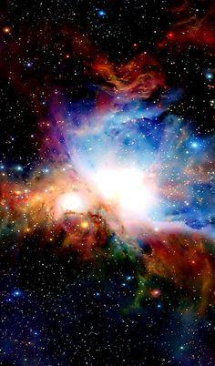 Huge Burst of star formation. The Orion Nebula.
