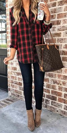 How to wear Winter outfits, Fashion Inspo, Fall Winter Fashion, Winter Fashion, Fall Looks and Fashion Trends Fall Outfits 2018, Casual Fall Outfits, Mode Outfits, Fall Winter Outfits, Fall Outfit Ideas, Casual Winter, Dress Casual, Winter Flannel Outfits, Casual Drinks Outfit
