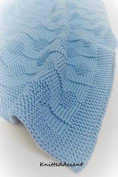 Baby Blanket- Knitting Pattern Only - No - Diy Crafts Wool Baby Blanket, Baby Blanket Size, Knitted Baby Blankets, Quilt Patterns Free, Baby Knitting Patterns, Baby Patterns, Free Knitting, Handmade Baby Blankets, Crochet Baby
