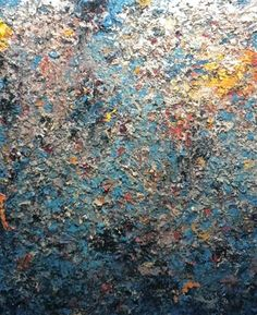 Charles Eckart at Seager Gray Gallery showing The Deep an abstract oil painting in Mill Valley California San Francisco Bay Area