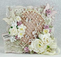 Frilly and Funkie - Challenge Winner Karen H. Shabby Chic Cards, Scrapbook Cards, Scrapbooking, Fairy Birthday, Shaped Cards, Beautiful Handmade Cards, Love Craft, Mothers Day Cards, Vintage Crafts