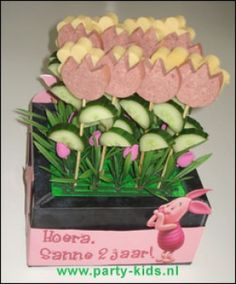 kaas worst bloemen
