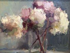 Painted Flowers...Beautiful...Michela # Lisa Noonis - Dried Hydrangea