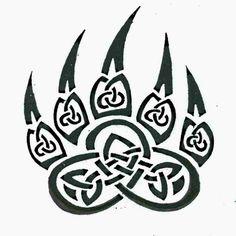 Tribal Tattoo Tiger Claw BW | Kinjenk Studio Tattoo