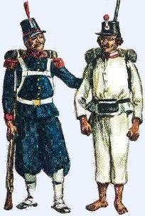 The Mexican Adventure: Uniforms: Republican Army Federal Infantry Guardia Nacional 1863