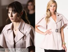Pretty Little Liars: Season 6 Episode 11 Spencer's Pink Cape Coat Pretty Little Liars Seasons, Pretty Little Liars Fashion, Spencer Hastings Style, Spencer Pll, Fashion Tv, Fashion Outfits, Pll Outfits, Cape Coat, Style Guides