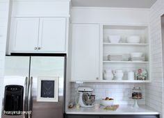Filling in that Awkward Space Above the Cabinets {Kitchen Progress}