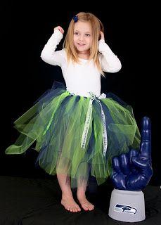 Seahawks Tutu - #DIY #tulle #skirt!