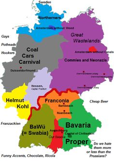 Stereotypes in Germany from a Bavarian point of view.