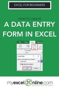 Say goodbye to inputting data into this Table row by row by row by row…. I will show you how easy it is to create a Data Entry Form in Excel with the step by tutorials & on video as well. Excel Tips, Excel Hacks, Excel Budget Template, Budget Spreadsheet, Budget Binder, Monthly Budget, Excel Cheat Sheet, Microsoft Excel Formulas, Excel For Beginners