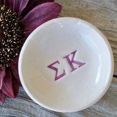 Greek lettered ring bowl