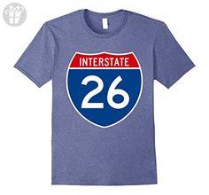 Men's Interstate 26 I-26 Shield Highway Years Old Birthday T-Shirt XL Heather Blue - Birthday shirts (*Amazon Partner-Link)