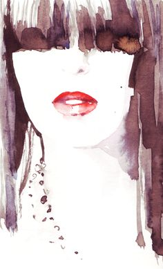 Watercolor fashion illustrations by Ioana Avram