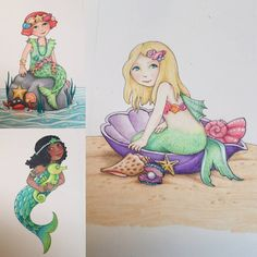 """From Mary's FB page: """"You can never have too many mermaids, right??""""  copyright Mary Engelbreit Enterprises, Inc."""