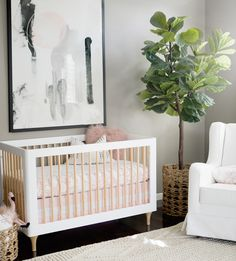 modern nursery baby girl nurseries white gray black