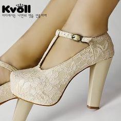 Pantofi De Mireasa Din Dantela