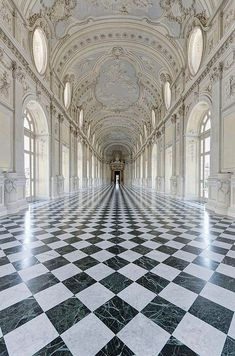 Galleria Grande ~The Palace of Venaria is located near Turin, Piedmont. The palace was the royal hunting lodge of the Savoy family. This beautiful corridor is the Galleria Grande Beautiful Buildings, Beautiful Places, Simply Beautiful, Beautiful Pictures, Architecture Cool, Baroque Architecture, Classical Architecture, Ancient Architecture, The Places Youll Go