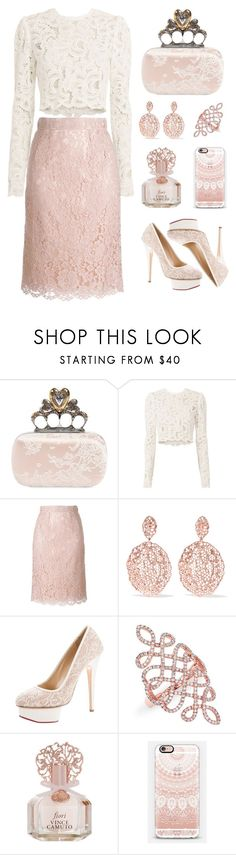 """""""All Lace"""" by pink-quartz ❤ liked on Polyvore featuring Alexander McQueen, A.L.C., Dolce&Gabbana, Aurélie Bidermann, Charlotte Olympia, Anne Sisteron, Vince Camuto and Casetify"""