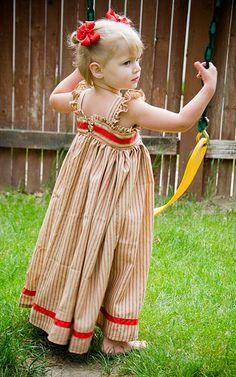 little girl maxi dress - J's birthday dress?
