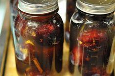 Plums in honey