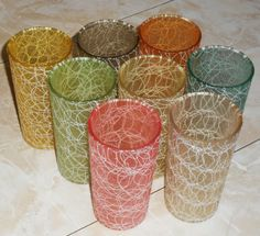 Spaghetti Glasses // I remember drinking from these....my mom loved these glasses...wonder whatever happened to them.