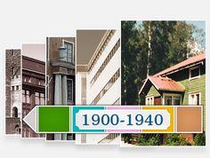 Arkkitehtuurimme vuosikymmenet - tietoa ja tehtäviä (netissä).
