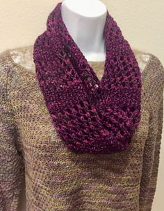 Knitting Patterns Cowl A beautiful eyelet cowl that is ready to slip on and go. The scarf can be left long if preferred.