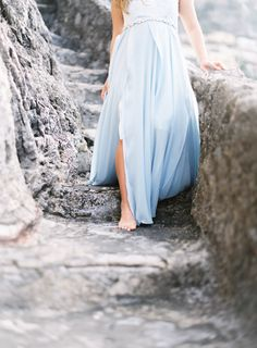 Baby blue flowy maxi dress: http://www.stylemepretty.com/living/2016/09/20/reasons-youll-be-so-glad-you-did-a-babymoon/ Photography: Maitha Lunde - http://maithalunde.com/