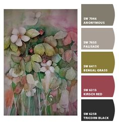 Paint colors from Chip It! by Sherwin-Williams. Strawberries by Kira M. ChipCard by Reni Apostolova.
