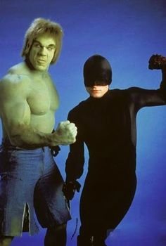 The Hulk and Daredevil fromThe Trial of the Incredible Hulk.