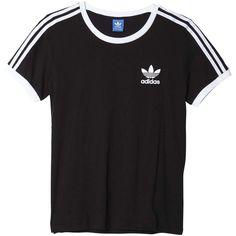 adidas originals 3S Tee ($25) ❤ liked on Polyvore featuring tops, t-shirts, adidas originals tee, adidas originals, 80s t shirts, 80s tops and 1980s t shirts