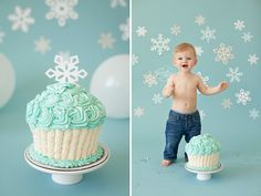 smash cake photos winter onederland - Google Search