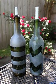love, elizabethany: pinspired: recycled wine bottle repelling torch