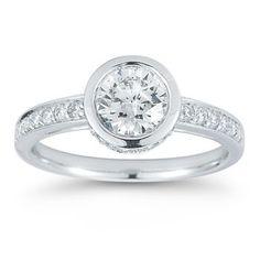 Round Diamond Ring (1.25 ctw) Platinum