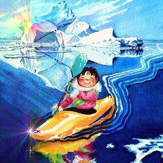 Iceberg Kayaker by Hanne Lore Koehler