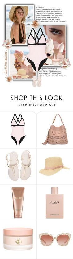 """""""Summertime"""" by fatima92 ❤ liked on Polyvore featuring Heidi Klein, Havaianas, Miss Selfridge, La Mer, Gucci, Yves Saint Laurent and Dolce&Gabbana"""