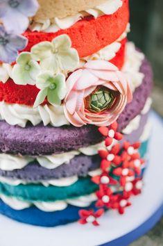 rainbow ombre cake