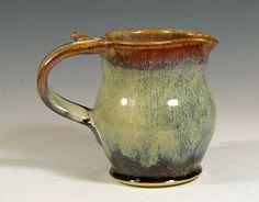 Creamer pitcher ceramic maple syrup jug stoneware by hughespottery