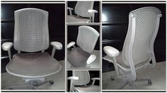 Facebook|Twitter|YouTube|Instagram|Google|Email  Arrival  HermanMiller / Celle Chair  MyOfficeLiquidator / Price $150.00 / $200.00 Re-upholstered set pad - your choice of Color.  Minimum Purchase ( 1 ) / Current Inventory{ 50 } Chairs  Designer Jerome Caruso set out to develop an intelligent durable office chair that could provide supportive comfort for everyone. His research resulted in Celles exclusive Cellular Suspension a system of unique polymer cells and loops engineered to support and…